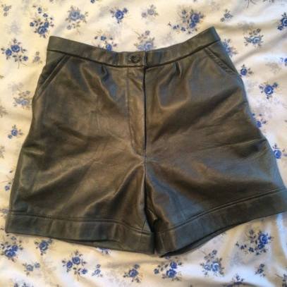 My new leather shorts